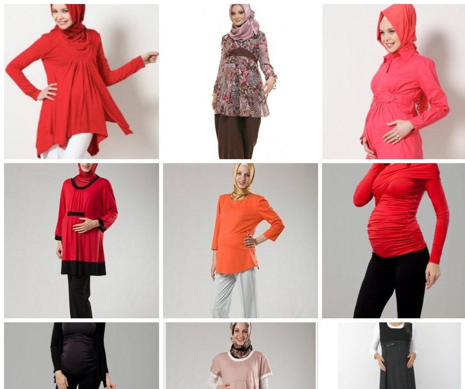 675960365a0ae ملابس حوامل جديدة للبنات المحجبات ~ موقع بنت حواء