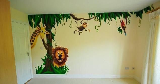 صور رسومات حوائط وورق حائط والوان حوائط جديدة (4)