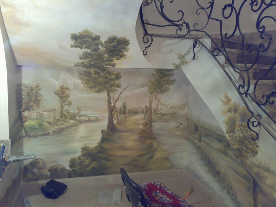 صور رسومات حوائط وورق حائط والوان حوائط جديدة (46)