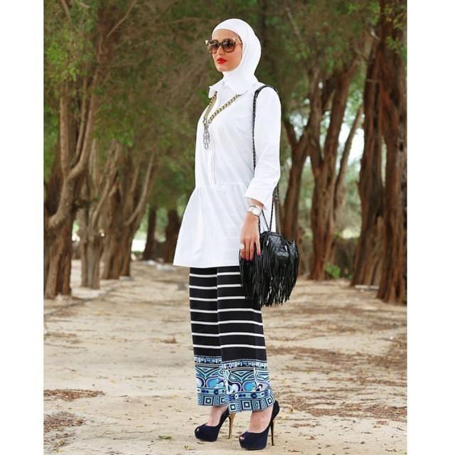 صور احدث موضة ازياء المحجبات لبس محجبات تركي مودرن (13)