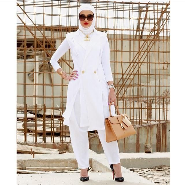 صور احدث موضة ازياء المحجبات لبس محجبات تركي مودرن (14)