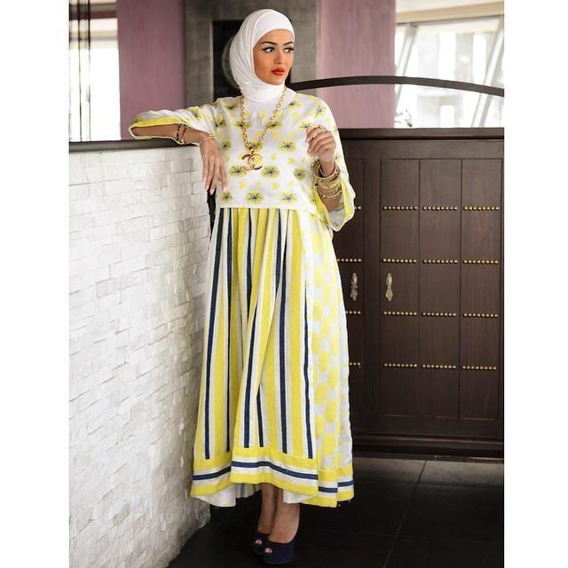 صور احدث موضة ازياء المحجبات لبس محجبات تركي مودرن (2)