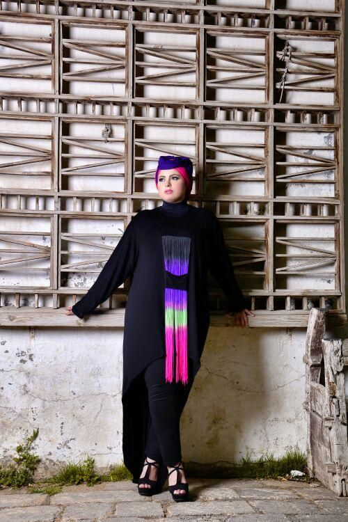 صور احدث موضة ازياء المحجبات لبس محجبات تركي مودرن (23)