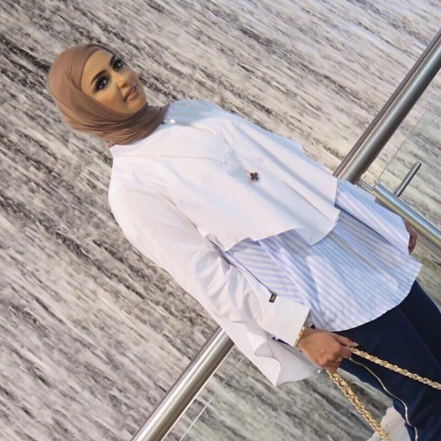 صور احدث موضة ازياء المحجبات لبس محجبات تركي مودرن (25)