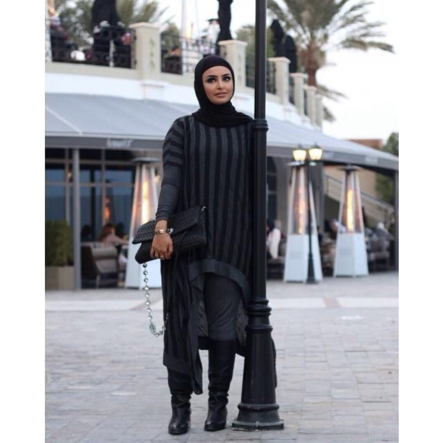 صور احدث موضة ازياء المحجبات لبس محجبات تركي مودرن (29)