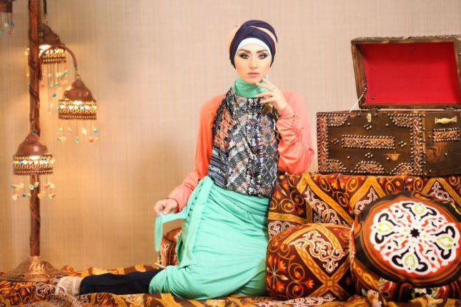 صور احدث موضة ازياء المحجبات لبس محجبات تركي مودرن (32)