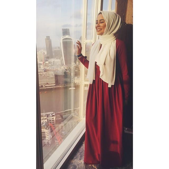 صور احدث موضة ازياء المحجبات لبس محجبات تركي مودرن (38)