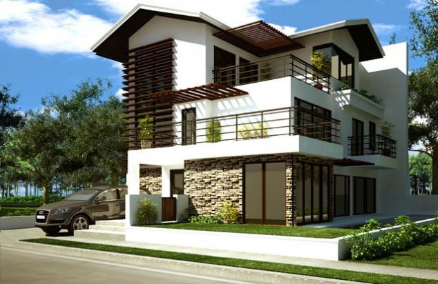 تصاميم فلل ومنازل من الخارج 2016 تصميمات بيوت مودرن (19)
