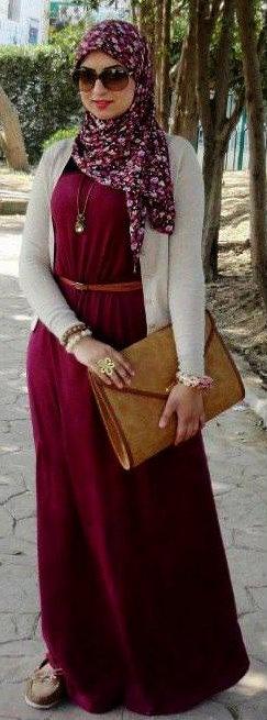 صور ملابس حوامل مودرن محجبات 2016  (7)