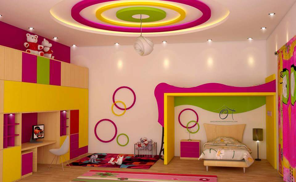 صور ديكورات غرف نوم اطفال 2016 بدهانات والوان مودرن سوبر