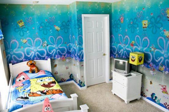 صور ديكورات غرف نوم اطفال 2016 بدهانات والوان مودرن (10)