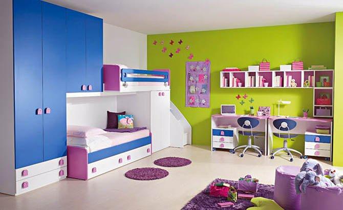 صور ديكورات غرف نوم اطفال 2016 بدهانات والوان مودرن | سوبر كايرو