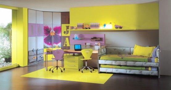 صور ديكورات غرف نوم اطفال 2016 بدهانات والوان مودرن (24)