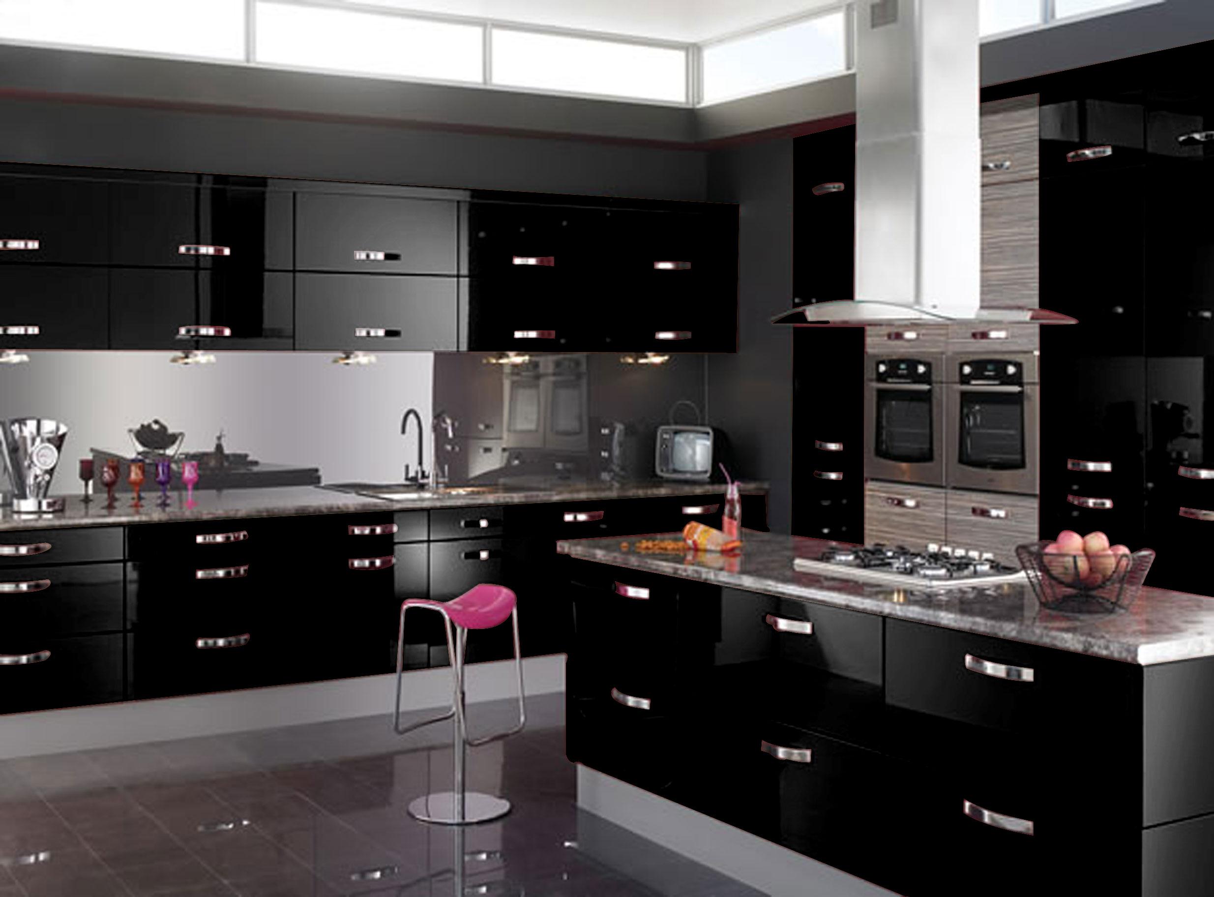 2016 for Black high gloss kitchen ideas