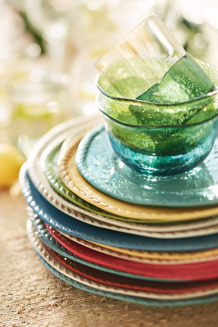 صور اطباق وصحون تقديم ملونة وسادة مودرن شيك (11)