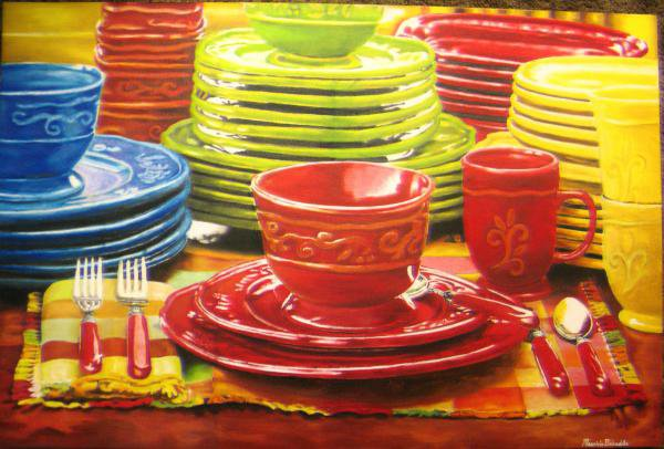 صور اطباق وصحون تقديم ملونة وسادة مودرن شيك (2)