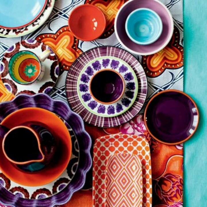 صور اطباق وصحون تقديم ملونة وسادة مودرن شيك (3)