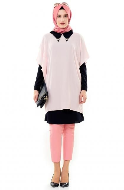 صور احدث موضة ازياء المحجبات لبس محجبات تركي مودرن (1)