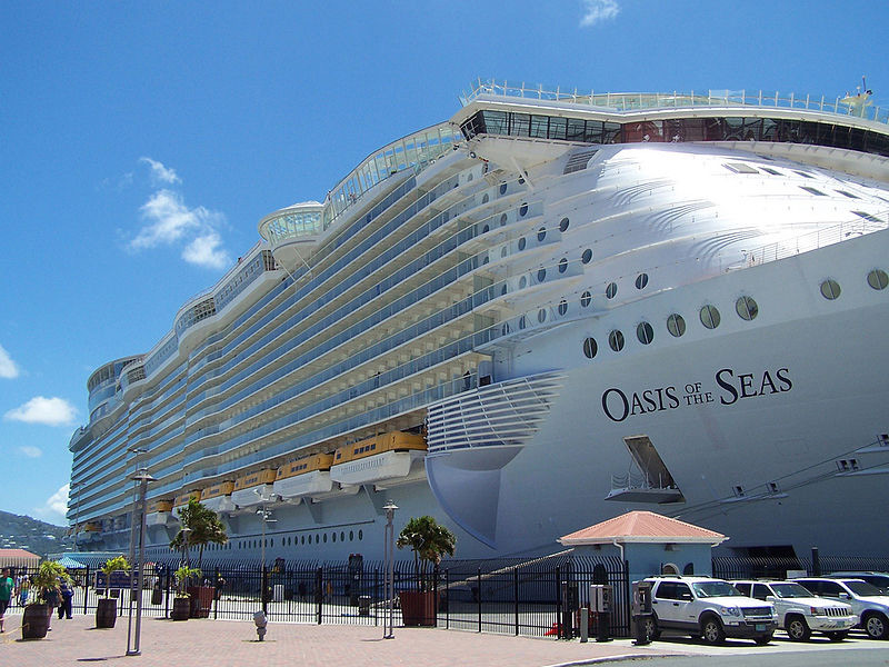 The Oasis of the Seas, the most massive cruise ship ever built
