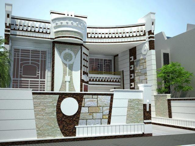 تصاميم فلل ومنازل من الخارج 2016 تصميمات بيوت مودرن (26)