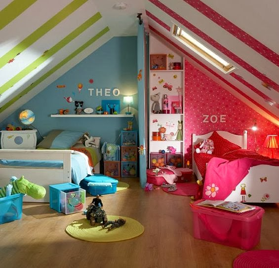 صور ديكورات غرف نوم اطفال 2016 بدهانات والوان مودرن (12)