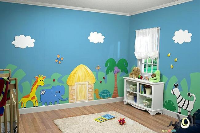 صور ديكورات غرف نوم اطفال 2016 بدهانات والوان مودرن (3)