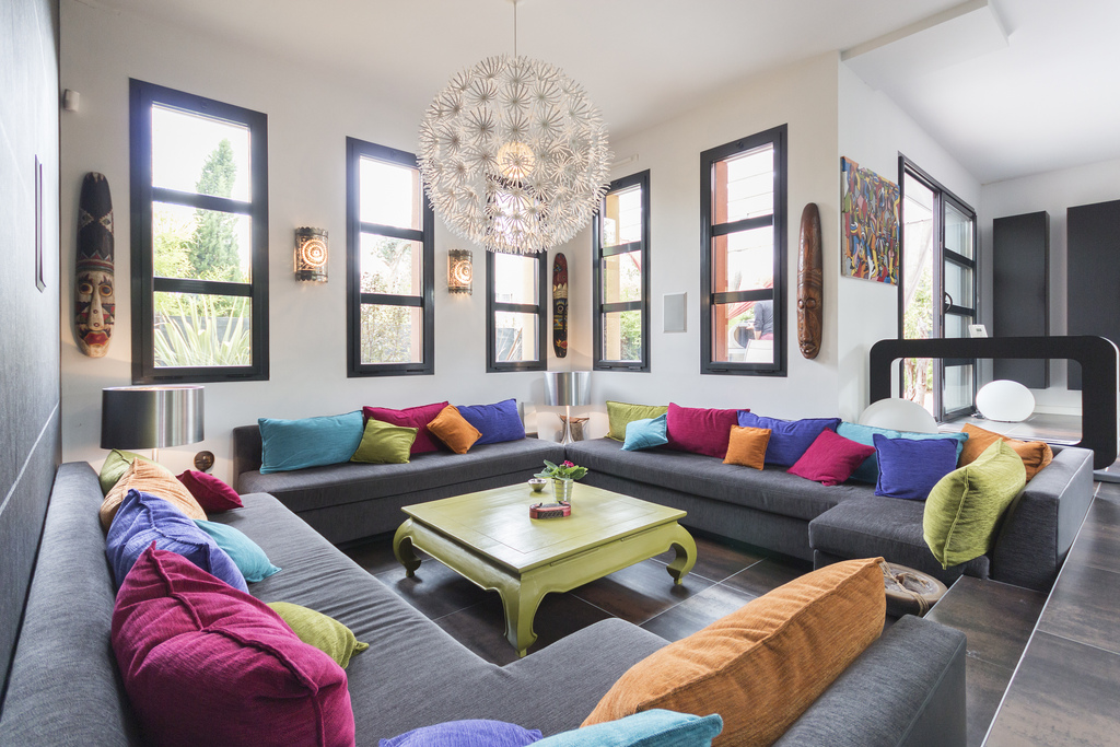 bright colored living rooms صور ديكوات والوان غرف معيشة 2016 مودرن سوبر كايرو 16110