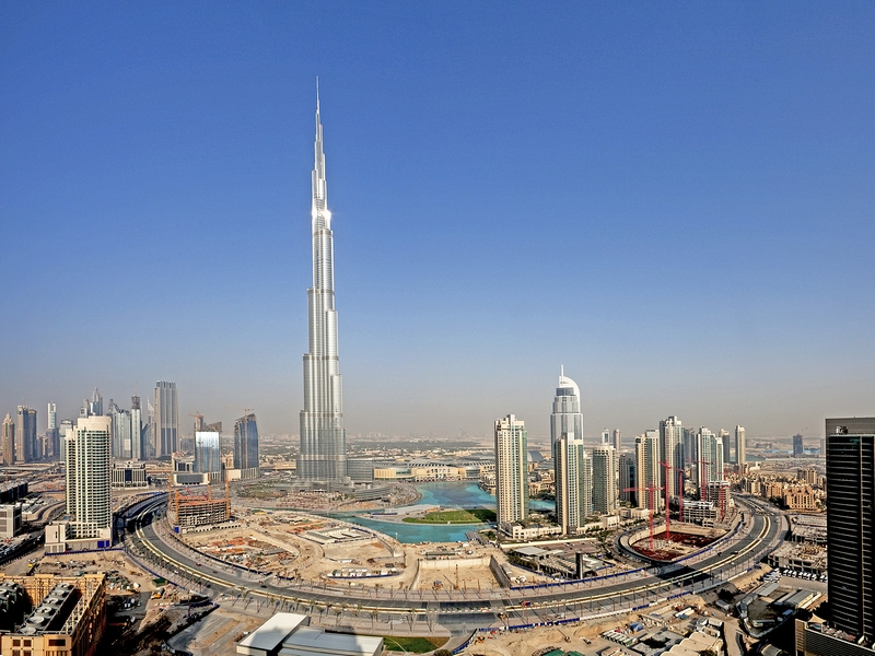 ca. January 2010, Dubai, United Arab Emirates --- Burj Khalifa, Dubai --- Image by © Jose Fuste Raga/Corbis