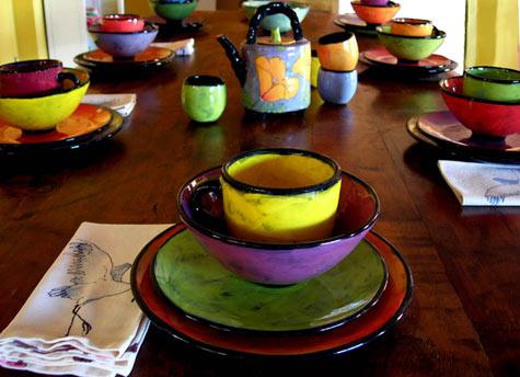 صور اطباق وصحون تقديم ملونة وسادة مودرن شيك (12)