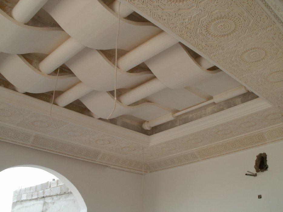 اسقف جبس معلقة كلاسيك بديكورات اسبانية Classic Gypsum Roof In