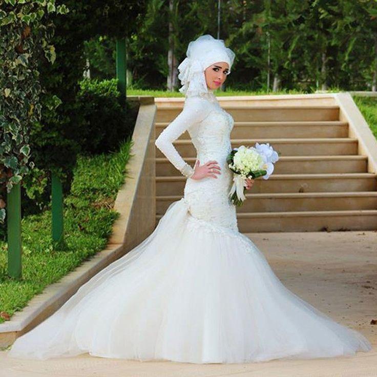 7fd708798e00d صور فساتين زفاف احدث فساتين فرح محجبات 2019