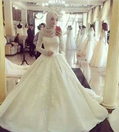 صور فساتين زفاف احدث فساتين فرح محجبات 2019 سوبر كايرو