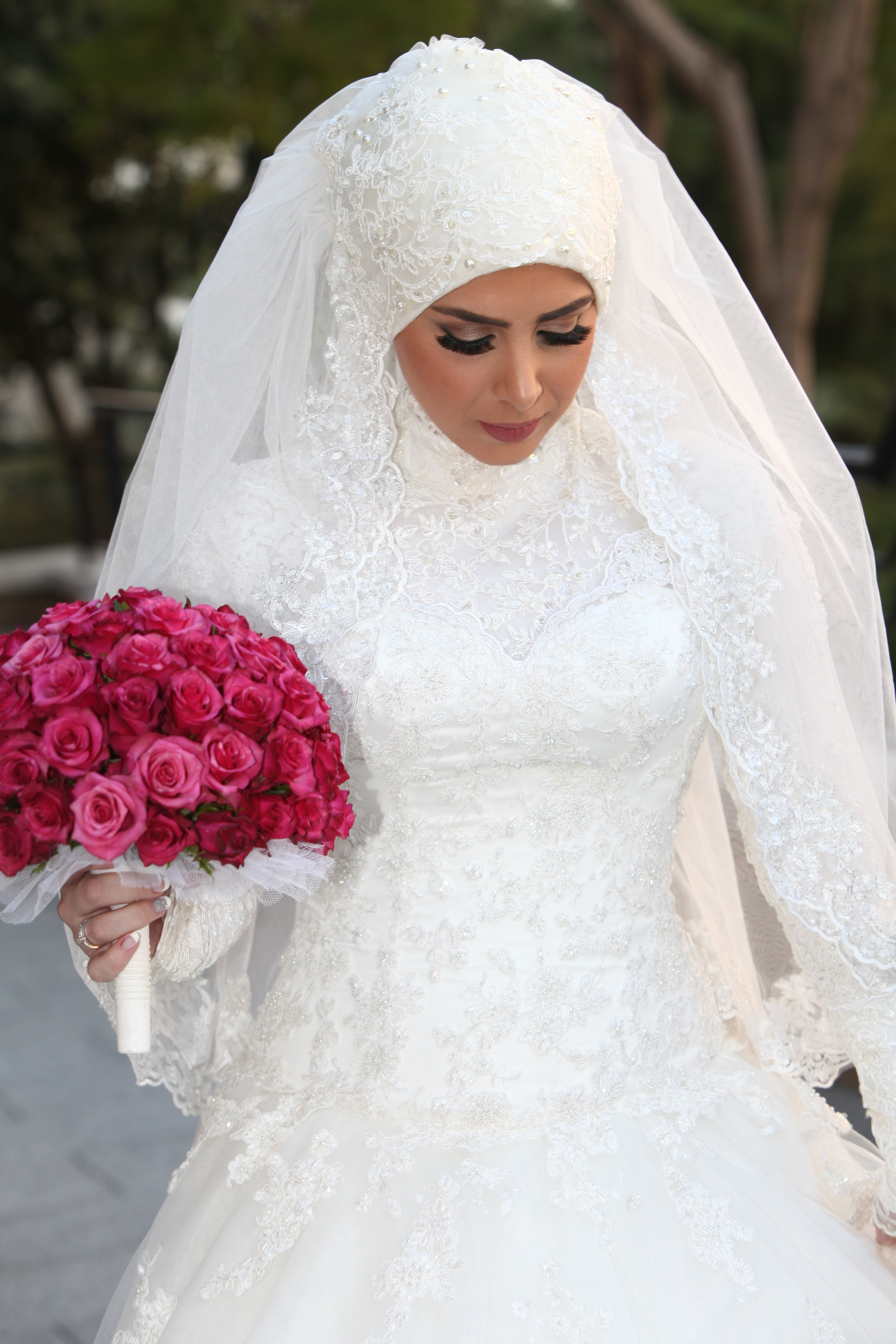4513bafdd صور فساتين زفاف احدث فساتين فرح محجبات 2019 | سوبر كايرو